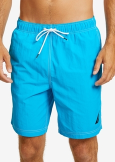 """Nautica Men's 8"""" Solid Swim Trunks"""