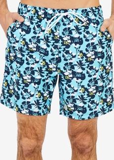 """Nautica Men's Abstract Poppy-Print 8"""" Swimsuit"""
