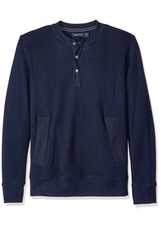 Nautica Men's Active Fit Henley Sweatshirt  L