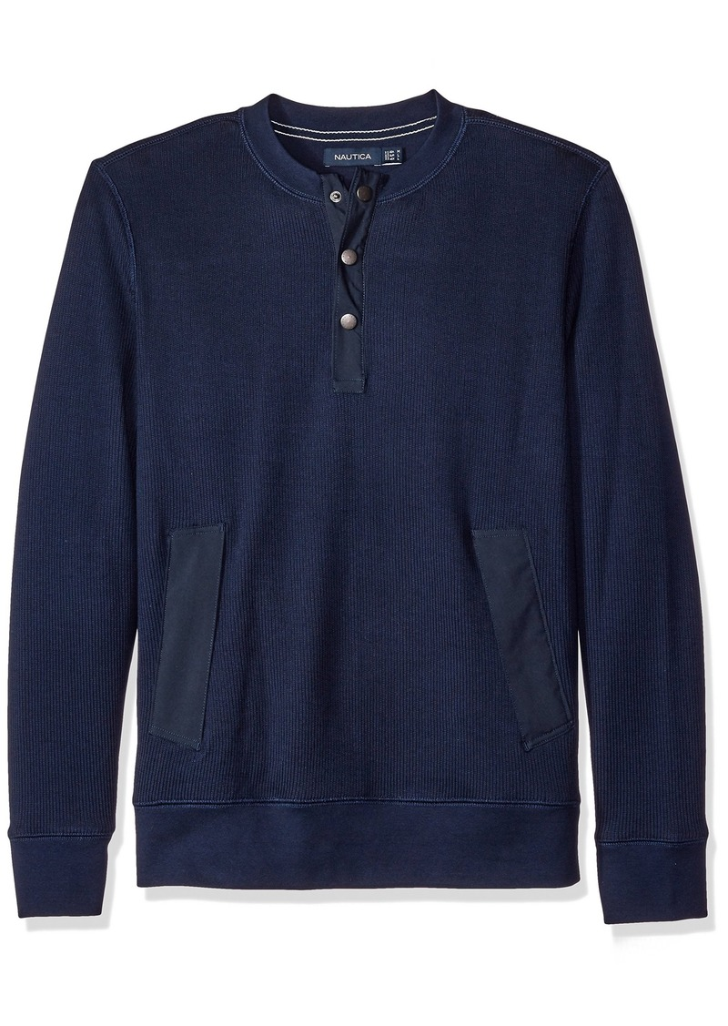 Nautica Men's Active Fit Henley Sweatshirt  XXL