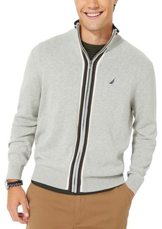 Nautica Men's Active Trim Full-Zip Sweater