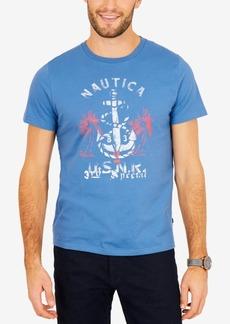 Nautica Men's Anchor & Palm Graphic-Print T-Shirt