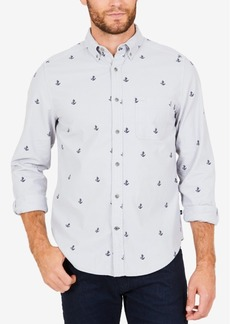 Nautica Men's Anchor Print Classic Fit Shirt