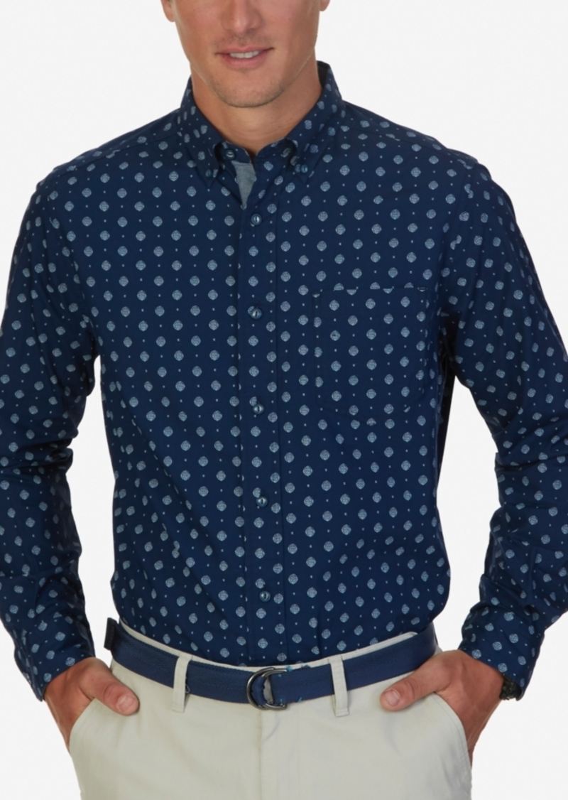Nautica Men's Barnacle Print Long-Sleeve Shirt