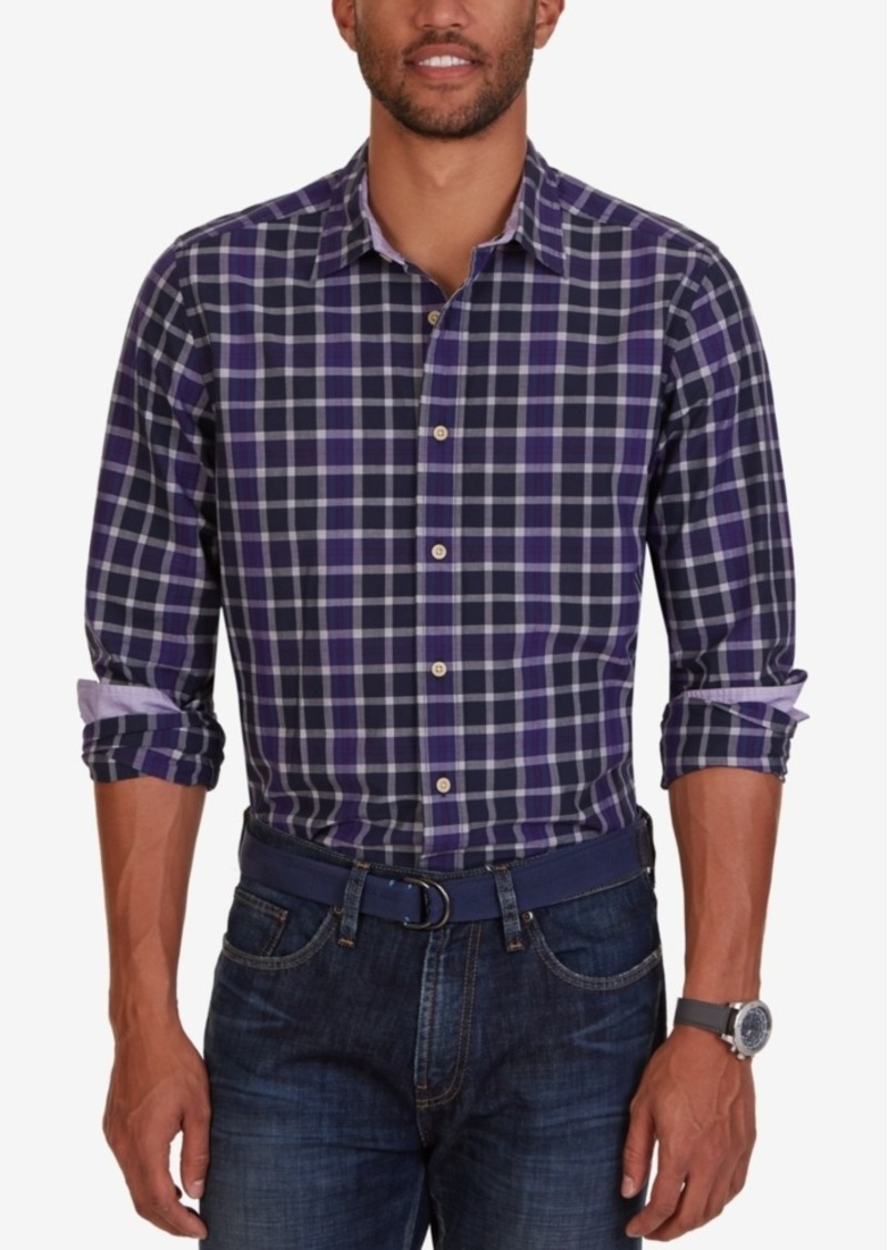 Nautica Men's Bayberry Plaid Long-Sleeve Shirt