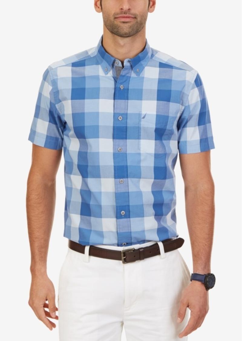 Nautica Men's Big & Tall Buffalo Plaid Short-Sleeve Shirt