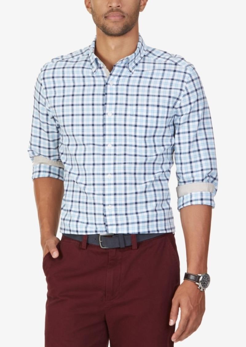 Nautica Men's Big & Tall Check Long-Sleeve Shirt