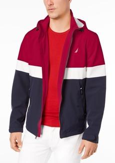 Nautica Men's Big & Tall Colorblocked Hooded Jacket