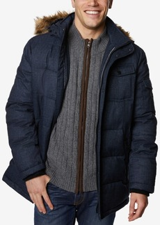 Nautica Men's Big & Tall Commuter Parka with Faux-Fur Trimmed Hood
