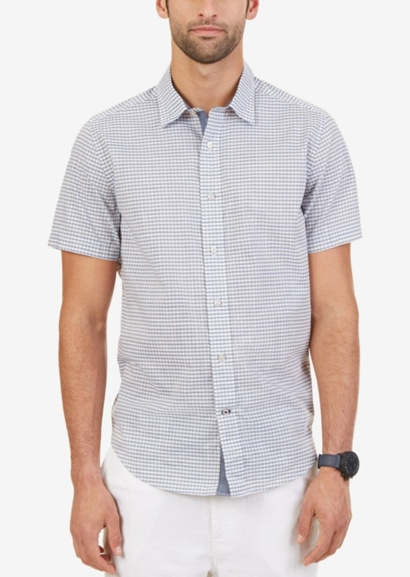 Nautica Men's Big & Tall Gingham Short-Sleeve Shirt