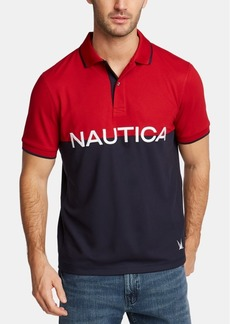 Nautica Men's Big & Tall Logo Graphic Polo, Created for Macy's