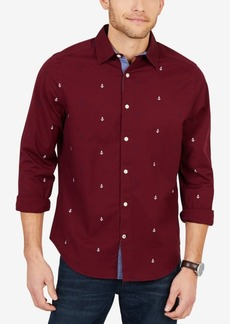 Nautica Men's Big & Tall Multi-Color Anchor Shirt