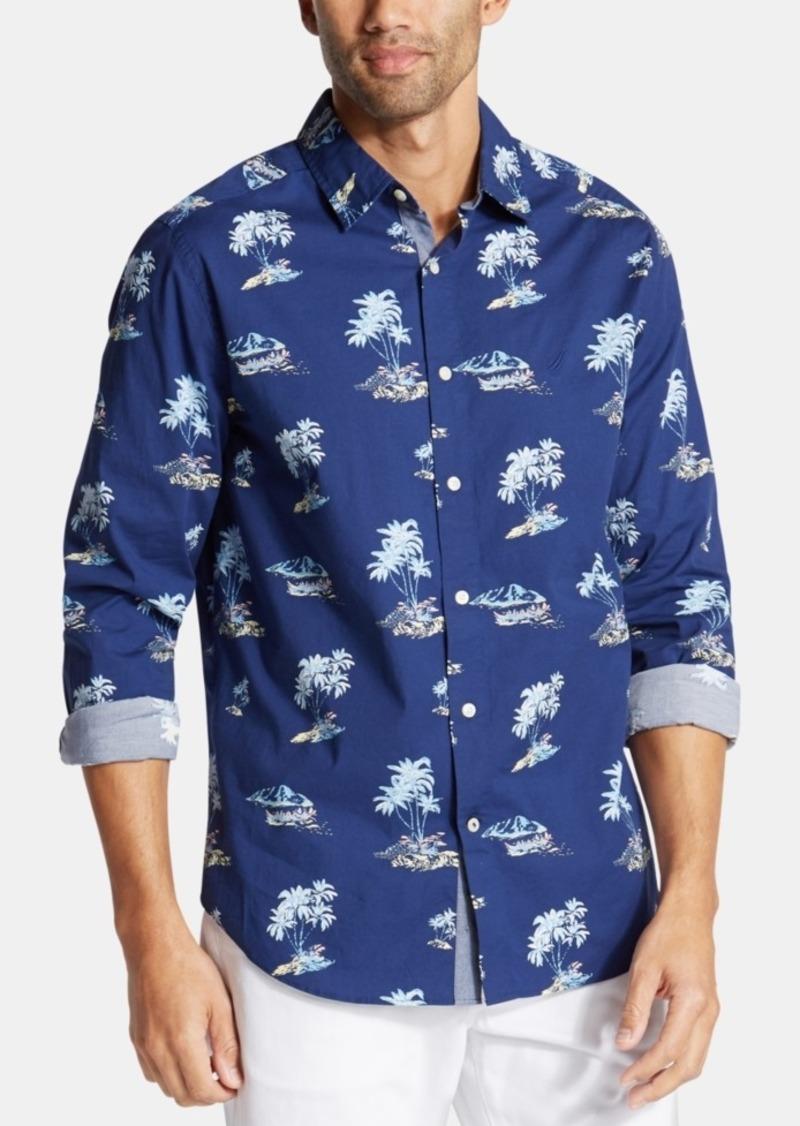 Nautica Men's Big & Tall Palm-Tree Graphic Shirt