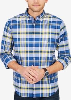 Nautica Men's Big & Tall Plaid Stretch Poplin Shirt