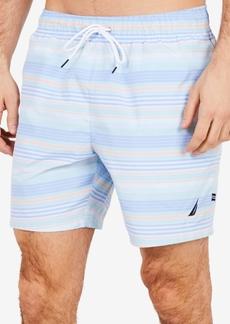 "Nautica Men's Big & Tall Quick-Dry Stripe 6"" Swim Trunks"