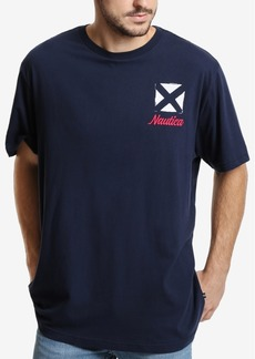 Nautica Men's Big & Tall Sail Flags Graphic T-Shirt