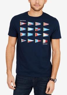 Nautica Men's Big & Tall Sailing Graphic-Print T-Shirt