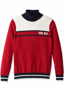 Nautica Men's Big and Tall Blocked Turtleneck Sweater red 4XLT