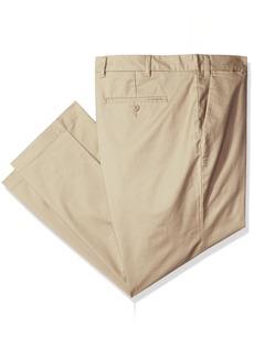 Nautica Men's Big and Tall Cotton Twill Pant Beach Sand 42x32