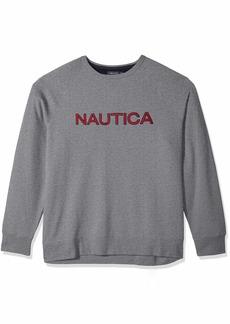 Nautica Men's Big and Tall Crew Neck Graphic Fleece Sweatshirt  2XLT
