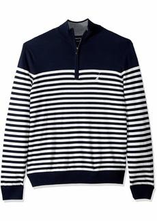 Nautica Men's Big and Tall Half-Zip Mock Neck Breton Sweater  6X