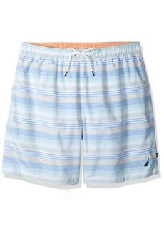 Nautica Men's Big and Tall Quick Dry Striped Swim Trunk  3X-Large