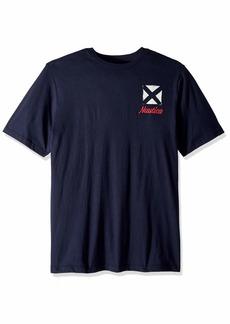 Nautica Men's Big and Tall Short Sleeve Flags Crewneck T-Shirt