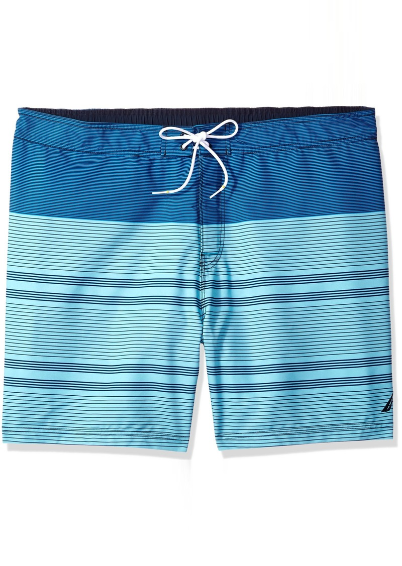99c5d9e3d126b5 Nautica Men's Big and Tall Quick Dry Half Elastic Waist Colorblock Swim  Trunk 3XLT