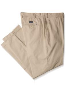 Nautica Men's Big-Tall Big and Tall Cotton Twill Flat Front Pant  46W 30L