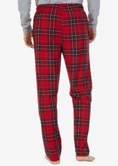 Nautica Men's Blackwatch Plaid Lightweight Sueded Fleece Pajama Pants