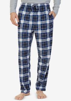 Nautica Men's Blackwatch Plaid Lightweight Sueded Fleece Pajama Pants