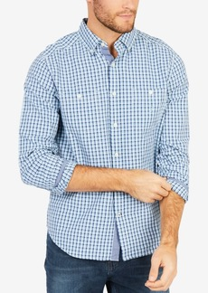 Nautica Men's Blue Depths Plaid Shirt