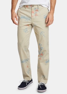 Nautica Men's Blue Sail Artist Series Classic-Fit Stretch Printed Deck Pants, Created for Macy's