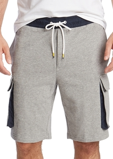 Nautica Men's Blue Sail Cargo Fleece Shorts, Created for Macy's
