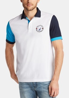 Nautica Men's Blue Sail Classic Fit Colorblocked Polo, Created for Macy's