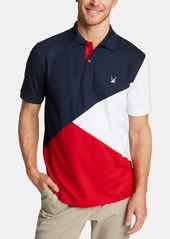 Nautica Men's Blue Sail Classic Fit Diagonal Colorblocked Polo, Created for Macy's