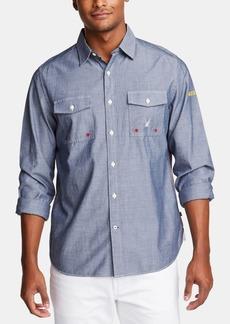 Nautica Men's Blue Sail Classic-Fit Logo Shirt, Created for Macy's