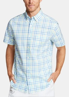 Nautica Men's Blue Sail Classic Fit Plaid Poplin Button-Down Shirt, Created for Macy's