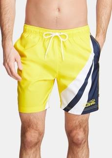 "Nautica Men's Blue Sail Colorblocked Quick Dry 8"" Swim Trunks, Created for Macy's"