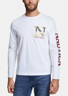Nautica Men's Blue Sail Embroidered Logo Graphic T-Shirt, Created for Macy's