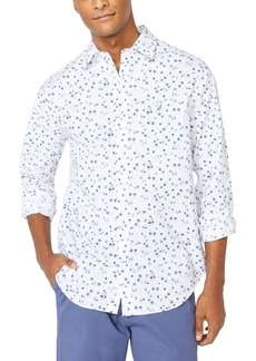 Nautica Men's Blue Sail Floral Graphic Shirt, Created for Macy's
