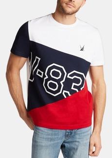 Nautica Men's Blue Sail Hydro Race Cotton Performance T-Shirt, Created for Macy's