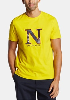 Nautica Men's Big & Tall Blue Sail Icon Embroidered Logo Graphic T-Shirt, Created for Macy's