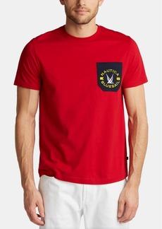Nautica Men's Blue Sail Logo Graphic Contrast Pocket T-Shirt, Created for Macy's