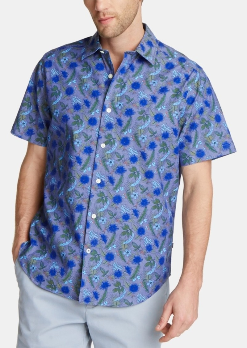 Nautica Men's Blue Sail Oxford Printed Shirt, Created for Macy's
