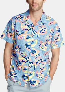 Nautica Men's Blue Sail Printed Camp Collar Shirt, Created for Macy's