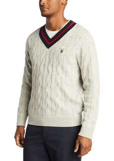 Nautica Men's Blue Sail V-Neck Classic Fit Sweater, Created For Macy's