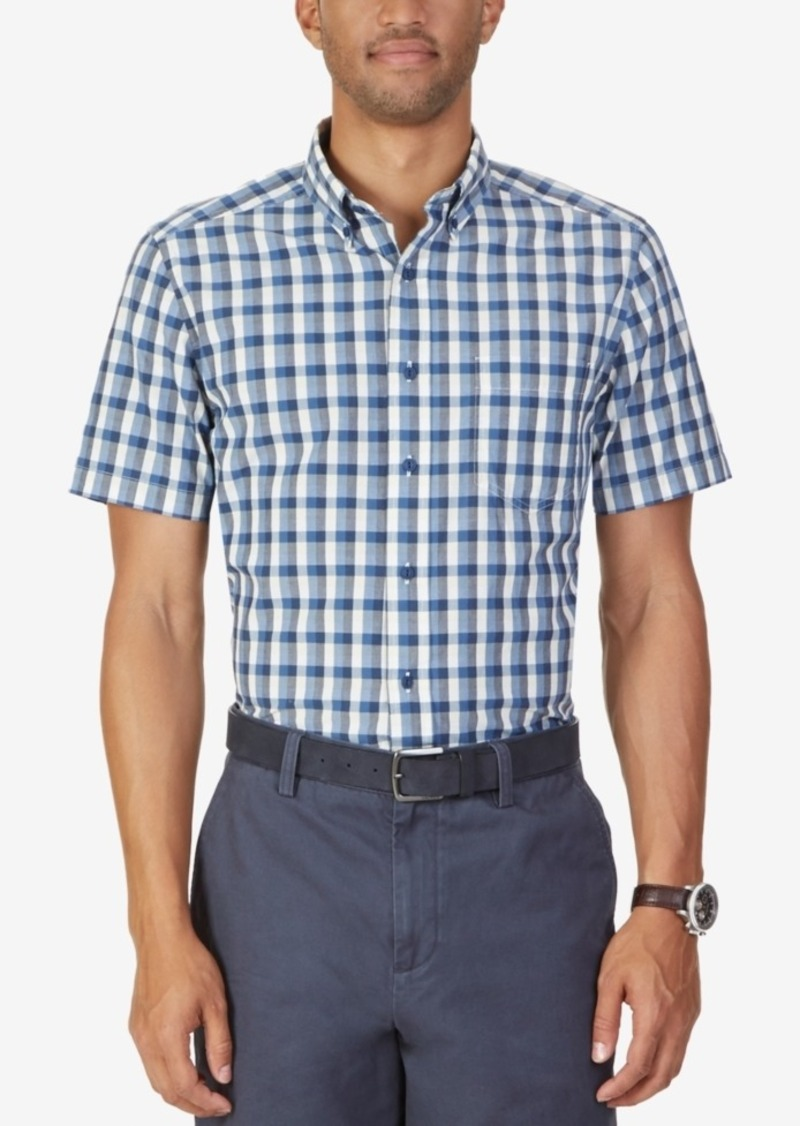 Nautica Men's Boardwalk Plaid Short-Sleeve Shirt