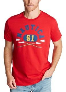 Nautica Men's Boat and Flag Tee Shirt