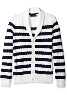 Nautica Men's Breton Stripe Cardigan  S